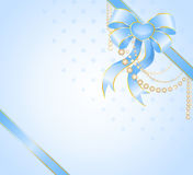 Big blue bow Royalty Free Stock Images