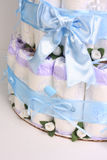 Big blue bow royalty free stock image