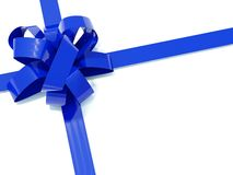 Big blue bow Royalty Free Stock Photography