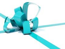 Big blue bow Stock Photo