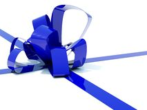 Big blue bow Stock Image