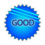 Big blue button labeled Royalty Free Stock Photography