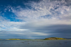 Calm in the bay at low tide the sea. Royalty Free Stock Images