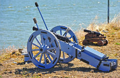 Big Blue Cannon Royalty Free Stock Images