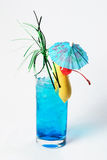 Big blue cocktail Stock Photography