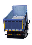 Big blue dump truck isolated Royalty Free Stock Image