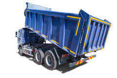 Big blue dump truck isolated. On white Royalty Free Stock Photography