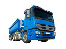 Big blue dumper truck isolated Stock Image