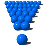 Big blue exclamation mark. Made from 3d balls Stock Images
