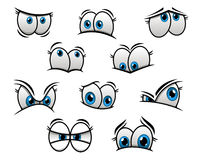 Big blue eyes in cartoon or comic style Royalty Free Stock Photos