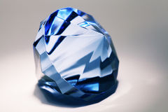 Big blue false diamond Royalty Free Stock Image