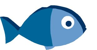 Big blue fish Royalty Free Stock Images