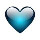 A Big Blue Glossy Heart royalty free stock images