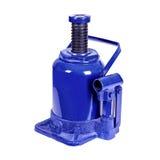 Big blue hydraulic Bottle Car Jac Royalty Free Stock Photos