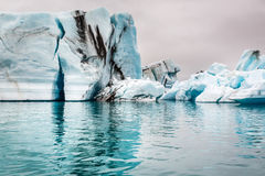 Big and blue icebergs, Iceland Stock Photography