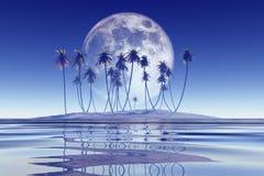 Big blue moon Royalty Free Stock Photography