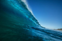 Big blue ocean wave in closing Stock Photography