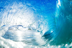 Big Blue Ocean Wave Splash Royalty Free Stock Photos