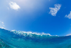 Big blue ocean Wave sunny sky Royalty Free Stock Image