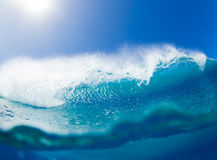 Big blue ocean Wave sunny sky Stock Photos