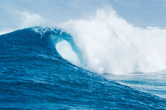 Big blue ocean Wave sunny sky Stock Images