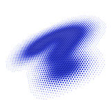 Big blue question mark on white. Big blue question mark of dots on a white background, 3d rendering Stock Photos