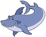 Big blue shark Stock Image