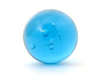 Big blue shoot marble Stock Images