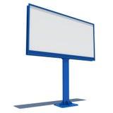 Big blue street billboard Stock Images