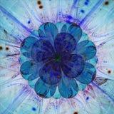Big blue translucent fractal flower Stock Images