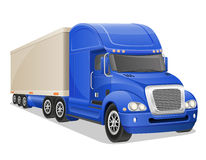 Big blue truck vector illustration Royalty Free Stock Image