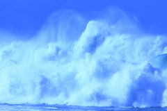 Big blue wave. Towering waves pounding at the pacific coast in Australia - a powerful force royalty free stock photo