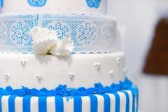 Big blue wedding cake Stock Photography