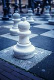 Big board with chess on the street. Image for background Royalty Free Stock Images