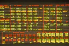 Big Board en la junta de comercio de Chicago, Chicago, Illinois Imágenes de archivo libres de regalías