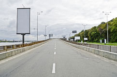 Big board on the highway Royalty Free Stock Image