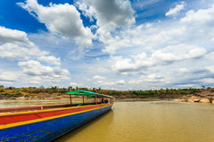 Big boat for transport on khong river Stock Photography