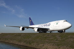 Big boeing 747 from saudi arabia. Stock Images