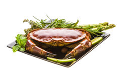 Big boiled crab Royalty Free Stock Photography