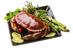 Big boiled crab Royalty Free Stock Photos