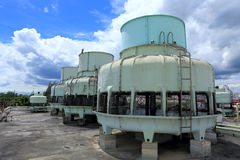 Big Boiler for factory on blue sky Royalty Free Stock Image