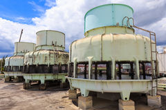 Big Boiler for factory on blue sky Stock Images