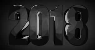2018 big bold year design Royalty Free Stock Photo