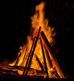 Big bonfire Royalty Free Stock Photo