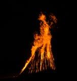 Big bonfire Stock Photography