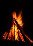 Big bonfire against dark night sky Stock Image