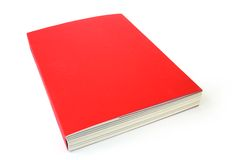 Big book. Big red book isolated on white background Royalty Free Stock Photography