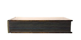 Big book horizontal. Big book with many colored pages on white, horizontal Royalty Free Stock Images