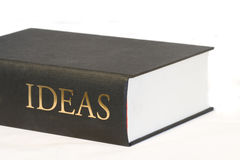 Big book of ideas. Isolated on a white background Royalty Free Stock Image