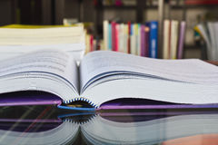 Big book in the library Royalty Free Stock Photography